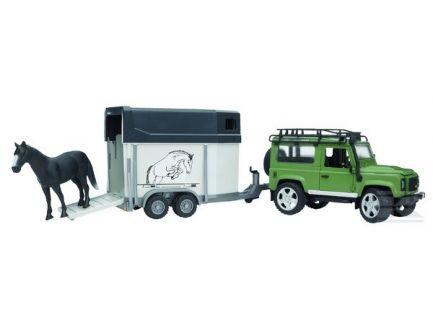 4x4 Land Rover Defender avec van et 1 cheval 02592
