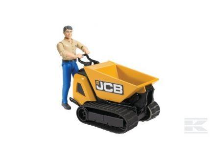 Dumpster JCB HTD-5 avec figurine 62004 Bruder