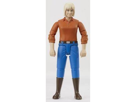 Figurine femme blonde avec bottes 60401 Bruder