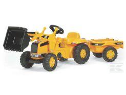 Tracteur à pédales Rolly Kid Caterpillar avec chargeur et remorque Rolly toys R02328