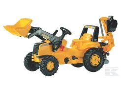 Tracteur à pédales Rolly Junior Caterpillar avec chargeur et pelle Rolly Toys R81300
