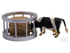 Auge avec 1 vache et 1 botte de foin Kids Globe 571961