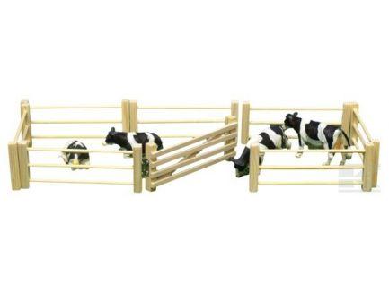 Lot de 6 barrières en bois échelle 1:32 Kids Globe 610667