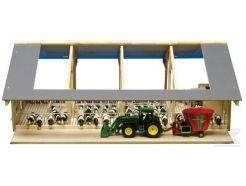 Etable ouverte en bois échelle 1:32 Kids Globe 610694