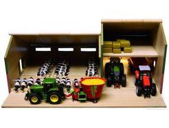 Hangar avec étable en bois Kids Globe 610409