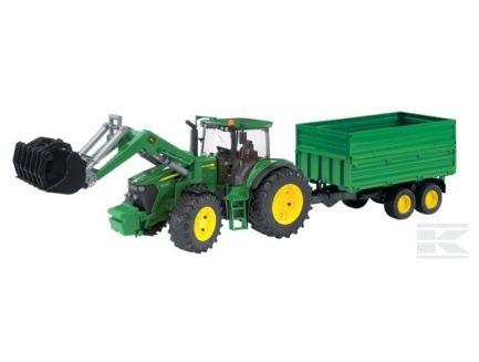 Tracteur John Deere 7930 avec chargeur et remorque Bruder 03055