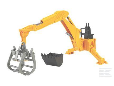 Excavatrice arrière avec grappin Bruder 02301