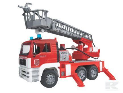 Camion de pompiers avec échelle et sirène Bruder 02771