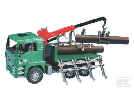 Camion Man TGA avec grumes et pince de chargement Bruder 02769