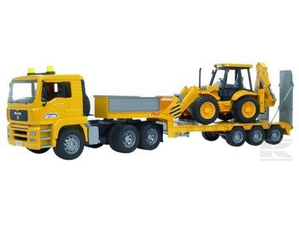 Camion Man TGA avec remorque et tractopelle JCB Bruder 02776