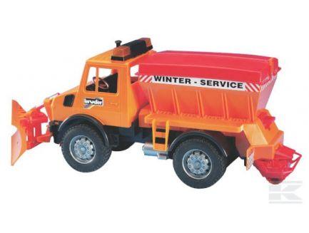 Camion de salage avec lame chasse neige Bruder 02572