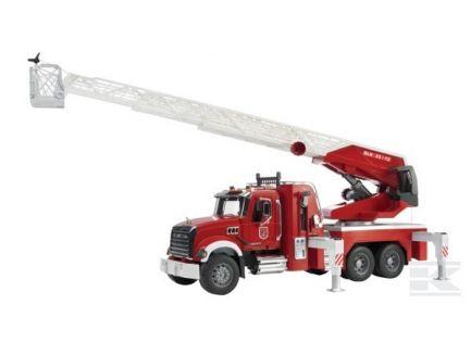 Camion de pompiers Mack Granite avec grande échelle Bruder 02821