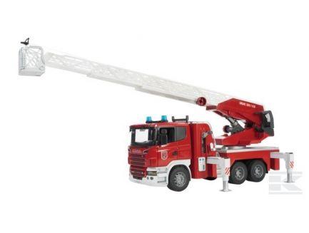 Camion de pompiers Scania série-R avec grande échelle et sirène Bruder 03590