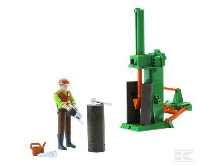 Kit fendeuse pour tracteurs Bruder avec figurine Bruder 62650