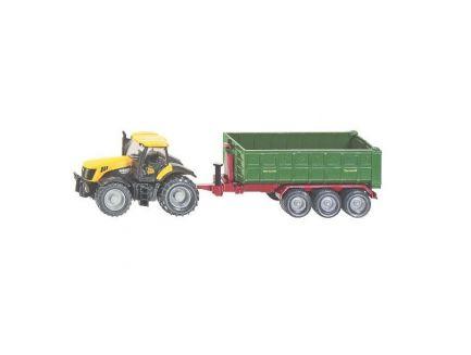 Tracteur JCB 8250 avec benne Fortuna 3 essieux Siku 1855 échelle 1/87