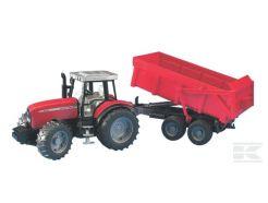 Tracteur Massey Ferguson 7480 avec benne