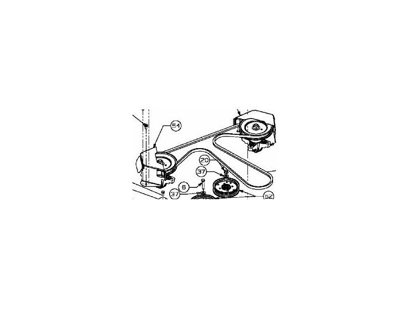 courroie de coupe 107 cm mtd 754-04060