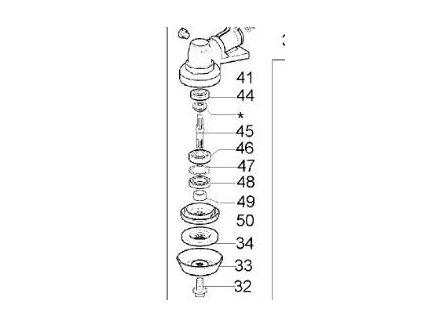 Flasque d'appui pour débroussailleuse Oléo-Mac 61040145R