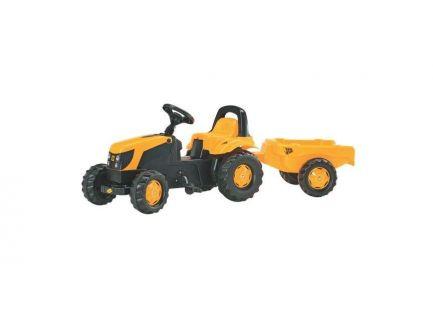 Tracteur à pédales JCB avec remorque Rolly Kid R01261