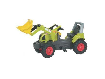 Tracteur à pédales Claas Arion 640 avec chargeur et pneus souples Rolly Toys R71024