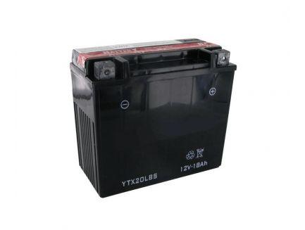 Batterie 12V 18 Ah avec acide YTX20LBS
