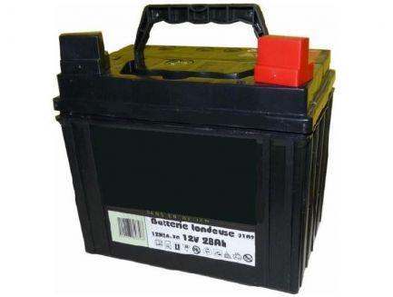 Batterie 12V 28AH pour autoportée + à droite