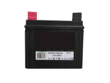 Batterie 12V 28AH pour autoportée + à gauche