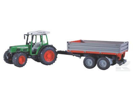 Tracteur Fendt Farmer 209 S avec remorque