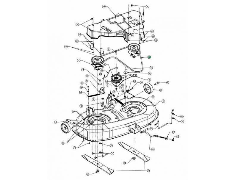 Courroie de coupe 96 cm mtd 754 04062 jpr loisirs - Courroie de coupe tracteur tondeuse mtd ...