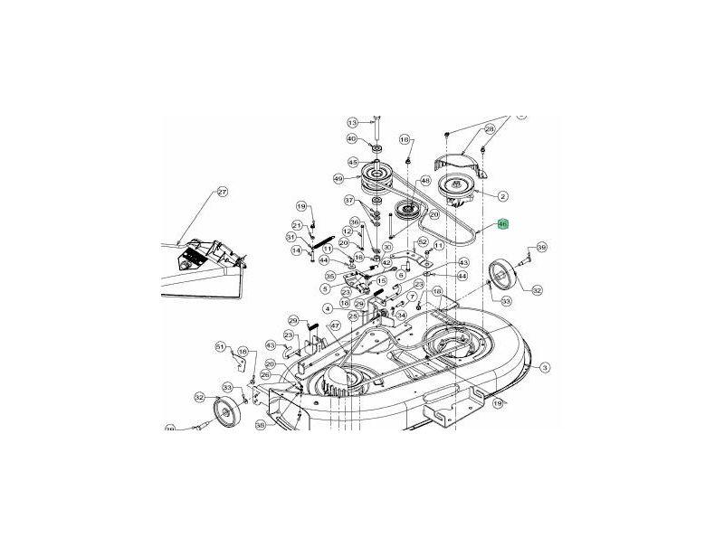 Courroie de coupe mtd 754 0497 jpr loisirs - Courroie de coupe tracteur tondeuse mtd ...