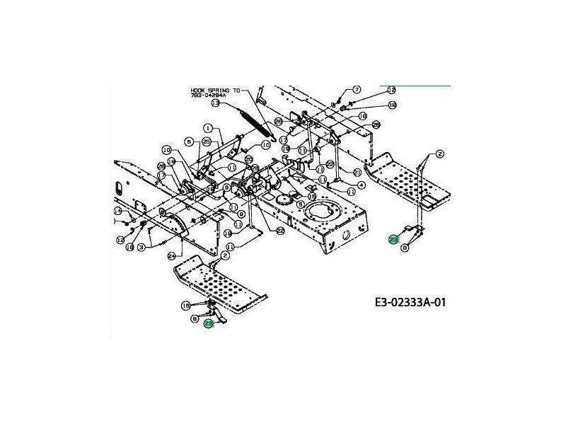 patin de frein de lame mtd 761 0168 jpr loisirs. Black Bedroom Furniture Sets. Home Design Ideas