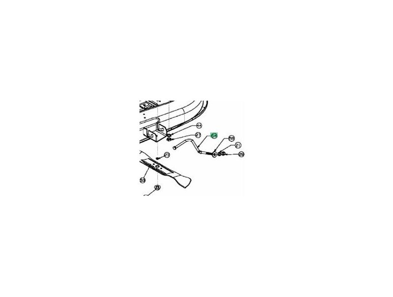 barre de relevage mtd747 04269a jpr loisirs. Black Bedroom Furniture Sets. Home Design Ideas
