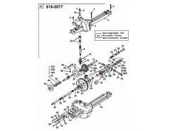 Vis de carter de différentiel MTD 710-0862A