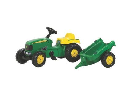 Tracteur à pédales John Deere avec remorque Rolly Toys R01219