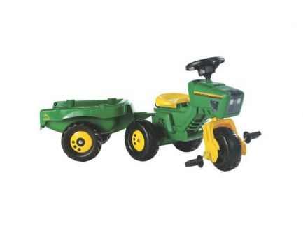 Tricycle tracteur John Deere avec remorques Rolly Toys R05276
