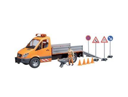Camion communal MB Sprinter avec accessoires Bruder 02537