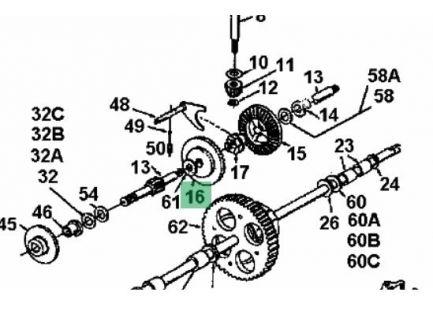 Pignon inverseur MTD 7171363