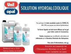Solution hydroalcoolique bidon de 1L