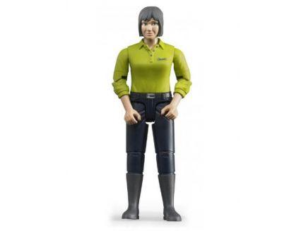 Figurine femme brune avec bottes 60405 Bruder