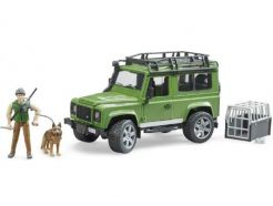 Set garde forestier avec Land Rover et accessoires BRUDER 02587