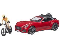 Roadster avec Vélo et Cycliste
