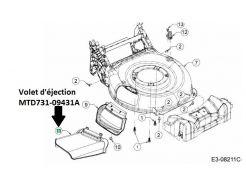 Volet d'éjection MTD 731-09431A
