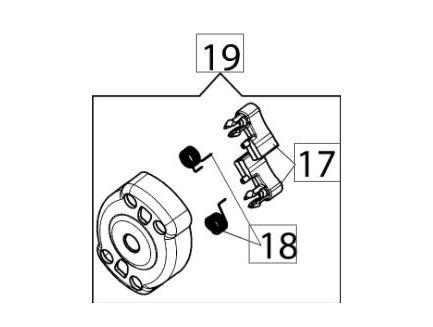 Cliquets de lanceur Emak 58070219R