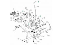 Axe de pédale de frein MTD647-04160