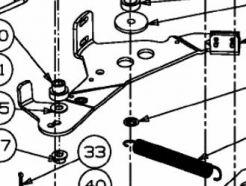 Bras tendeur de courroie MTD 683-04138C