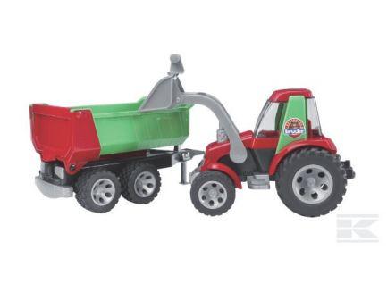 Tracteur avec chargeur et remorque Roadmax