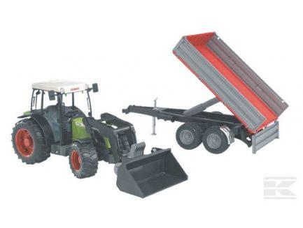 Tracteur Claas Nectis 267 F avec chargeur et remorque
